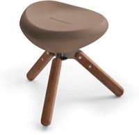 Lonc Beaser wood - kunststof kruk met houten poten-3