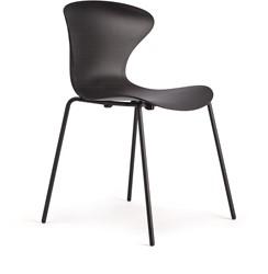 Boo 4 poot stoel - kunststof vlinderstoel op vierpoot frame, stapelbaar