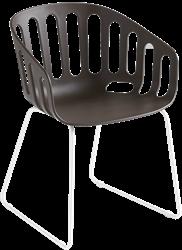 Brave SL - Kunststof kuipstoel met sledeframe in chroom of gepoedercoat
