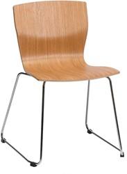 Butterfly MO5320 Runner - Magnus Olesen Kantinestoel op sledeframe, zitschaal hout fineer, stapelbaar