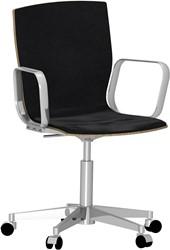 Butterfly MO5491 Swivel High Front - Magnus Olesen bureau- vergaderstoel, zitschaal hout fineer, voorzijde gestoffeerd