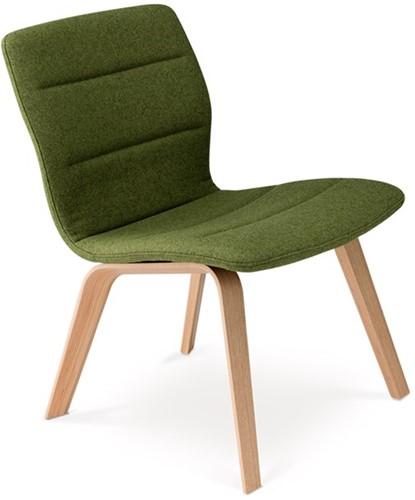 Butterfly MO5360 Lounge Wood Full - Magnus Olesen loungestoel gestoffeerd, frame massief hout, zitschaal volledig gestoffeerd