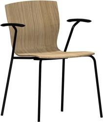 Butterfly MO5311 Armstoel  - Magnus Olesen Kantinestoel met armleggers, zitschaal hout fineer, stapelbaar