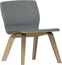 Butterfly MO5360 Lounge Wood Front - Magnus Olesen loungestoel voorzijde gestoffeerd, frame massief hout