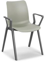 Celis armstoel - geheel kunststof stapelbare kantine stoel in diverse sprekende kleuren met armleggers