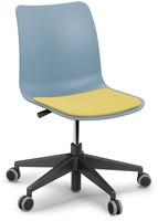 Celis bureaustoel - kunststof zitschaal in diverse sprekende kleuren met 5 teens voet-3