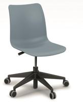 Celis bureaustoel - kunststof zitschaal in diverse sprekende kleuren met 5 teens voet