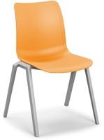 Celis - geheel kunststof stapelbare kantine stoel in diverse sprekende kleuren