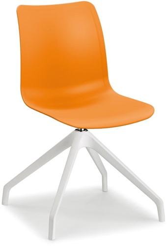 Celis SP - kunststof zitschaal in diverse sprekende kleuren met 4 teens swivel frame