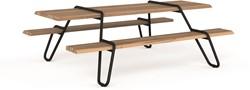 Clip-board picnic - houten picnic tafel met metalen frame