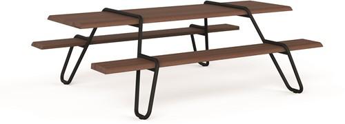 Clip-board picnic - houten picnic tafel met metalen frame-2