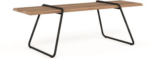 Clip-board table - houten tafel met metalen frame