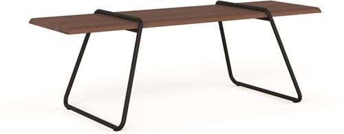 Clip-board table - houten tafel met metalen frame-2