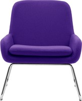 Coco SL - gestoffeerde lounge stoel/ fauteuil met sledeframe-2