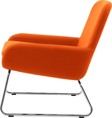 Coco SL - gestoffeerde lounge stoel/ fauteuil met sledeframe-3