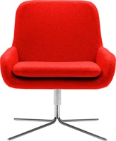 Coco SW - gestoffeerde lounge stoel/ fauteuil met kruisvoet-2