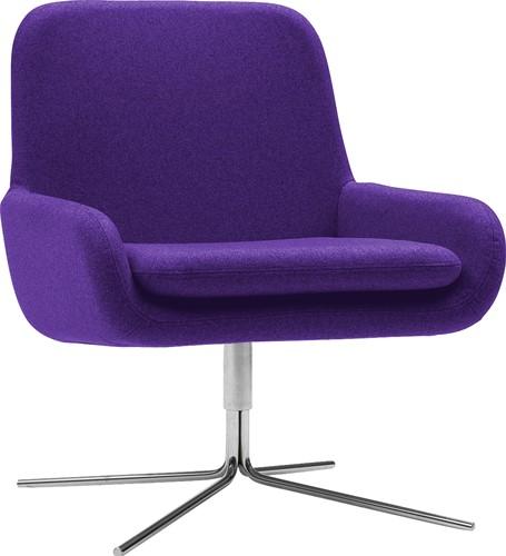 Coco SW - gestoffeerde lounge stoel/ fauteuil met kruisvoet-3
