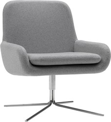 Coco SW - gestoffeerde lounge stoel/ fauteuil met kruisvoet
