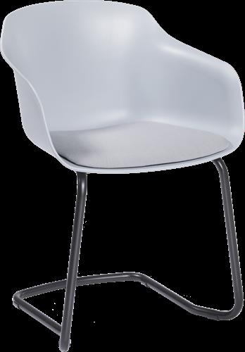Combo CTL - Kunststof kuipstoel met gestoffeerde zitting en cantilever frame