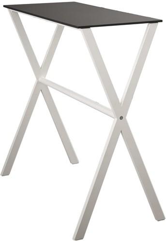 Cross table melamine - speelse smalle statafel met gekruiste poten en melamine blad