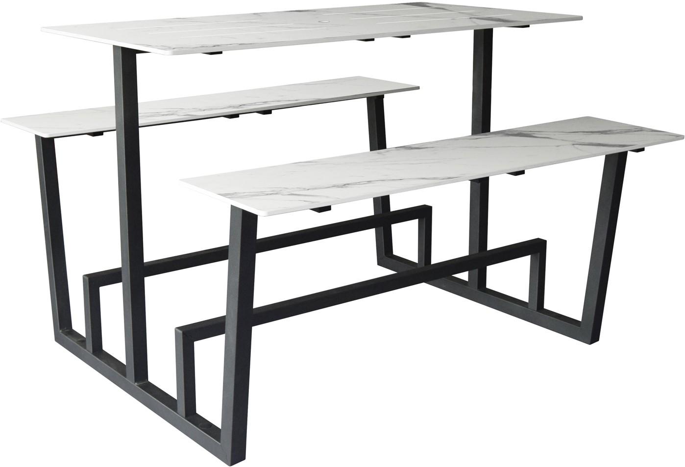 Beton Tafel Buiten : Yuke high outdoor hoge tafel voor gebruik buiten met vaste