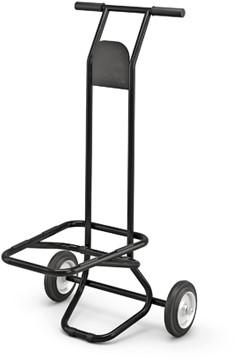 Universele Trolley, in hoogte verstelbaar, harde wielen, zwart