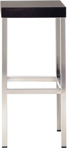 Cube H15 - kruk met houten zitting-1