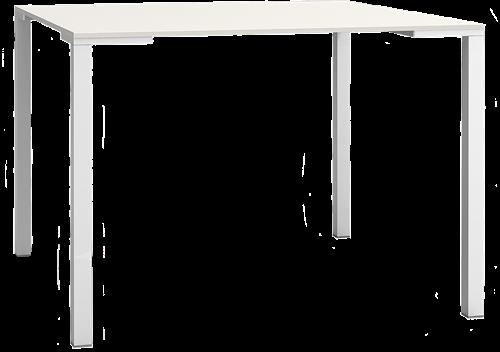 Togo 73 Tafel - vierpoot tafel met vierkante poten van aluminium, blad volkern