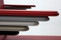Qliq A650 - voordelige kunststof zaalstoel met armleggers, goed stapelbaar-2