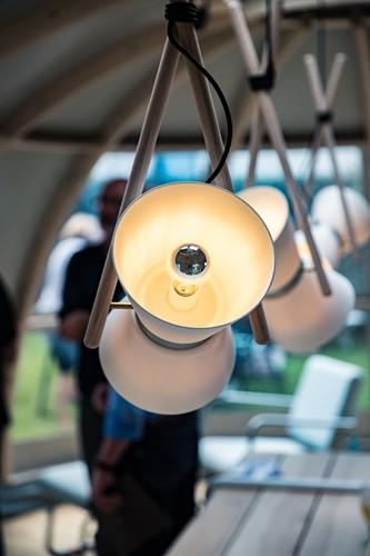 Diabolo pendant - Diabolo hanglamp frame beuken, kap composiet en aluminium-3