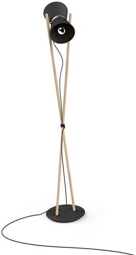 Diabolo floor - Diabolo staande lamp frame beuken, kap composiet en aluminium.-2