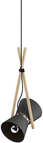 Diabolo pendant - Diabolo hanglamp frame beuken, kap composiet en aluminium-2