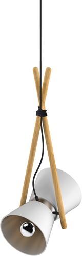 Diabolo pendant - Diabolo hanglamp frame beuken, kap composiet en aluminium