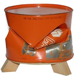 C-Barrel onderstel Ø59 cm, H=10 cm, gerecycled hout