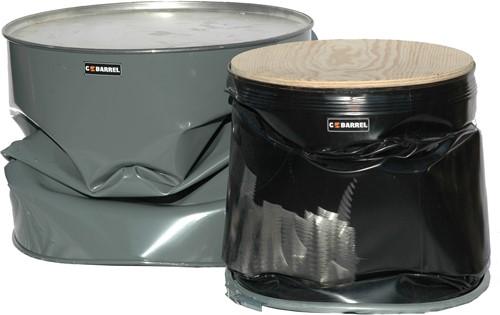 C-Barrel zitting - zitting voor op industrieel circulair olievat, diameter 58 cm.