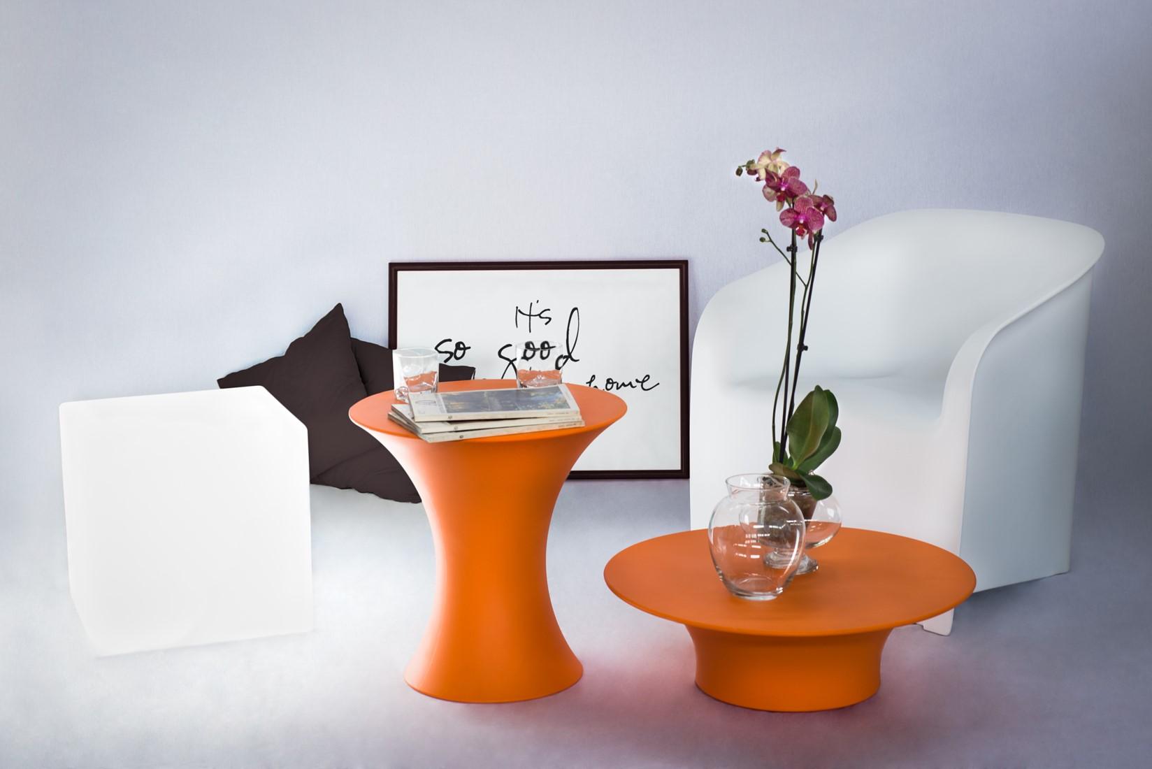Lady kunststof stoel plart design kunststof stoel oranje ar