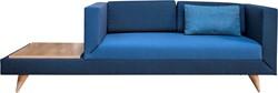 LL Bank 4912 2 zits+ tafel - Kees Marcelis 2 zits wachtbank met aflegblad, volledig gestoffeerd, kleur- en stofcombinaties mogelijk