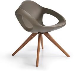 Lonc Easer wood - luxe ergonomisch gevormde kunststof stoel met houten poten