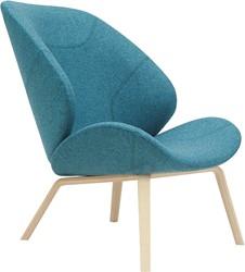 Eden - gestoffeerde lounge stoel / fauteuil met houten frame