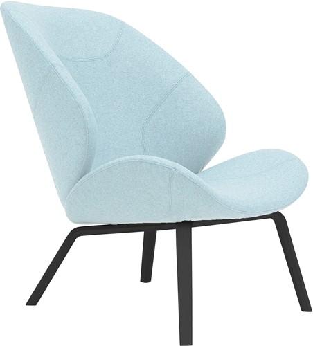 Eden - gestoffeerde lounge stoel / fauteuil met houten frame-2