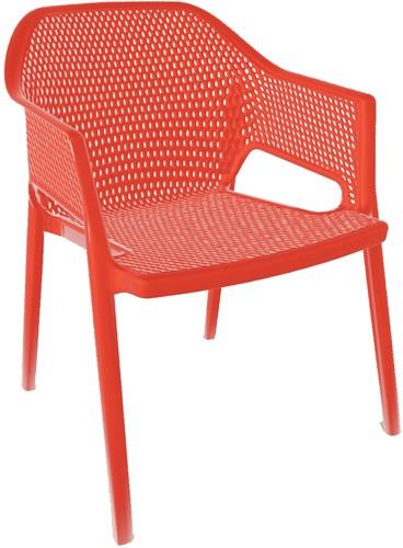 Effort Lounge - Technopolymeer lounge stoel met geperforeerde zitting en rug, geheel van kunststof.