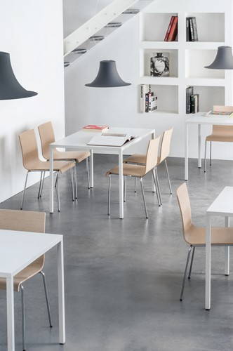 Fabbrico Tafel- stalen (outdoor) tafel met dun / minimalistisch frame-3