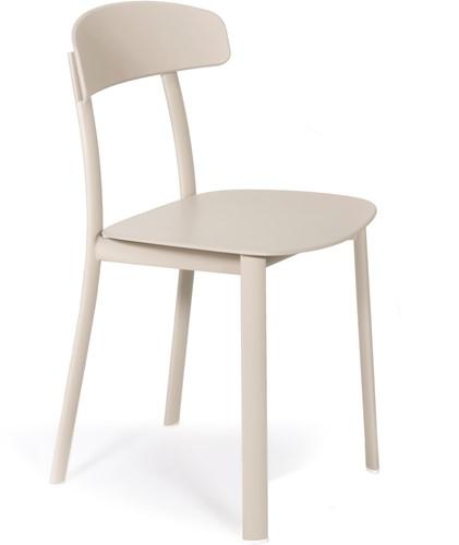 Feluca Pop - vierpootsstoel, frame staal, zit en rug gerecycled kunststof