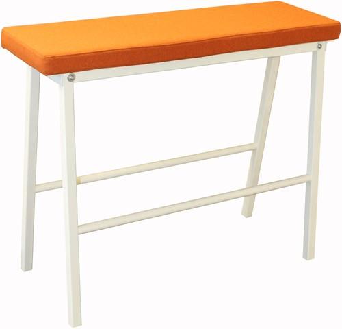 Form Bench 78 - bank passend bij hoge tafel met gestoffeerde zitting