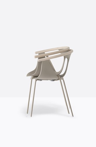 Fox 3726 - elegante stapelbare fauteuil met kunststof kuip en gecoate metalen poten. FSC 100% gecertificeerd-3