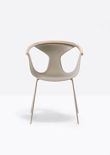 Fox 3726 - elegante stapelbare fauteuil met kunststof kuip en gecoate metalen poten. FSC 100% gecertificeerd-2