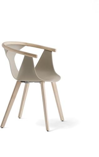 Fox 3725 - elegante fauteuil met kunststof kuip en houten poten. FSC 100% gecertificeerd-2
