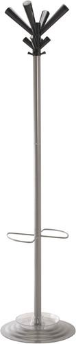 G110 - Kapstok voet en buis staal grijs, kroon polycarbonaat in de kleur fumé