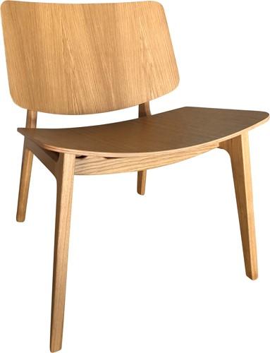 Freya MO4731 Lounge WOOD- Magnus Olesen houten loungestoel, frame eiken of beuken, zitting en rug eiken of beuken fineer