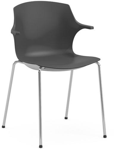 Frill - kunststof kantine stoel met armleggers